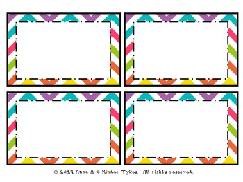 Multi Chevron Labels by Kinder Tykes