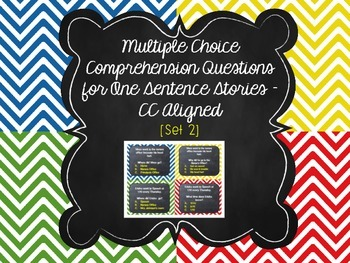 Multi Choice Comprehension Questions for One Sentence Stories SET 2