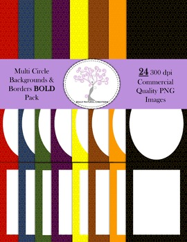 Multi Circle Backgrounds and Borders BOLD Pack