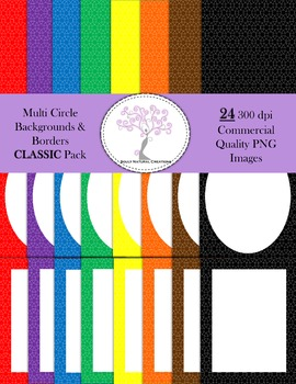 Multi Circle Backgrounds and Borders CLASSIC Pack