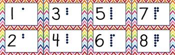 Rainbow Chevron Alphabet & Numbers Set