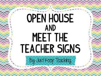 {Multi-Color} Meet the Teacher/ Open House Posters-organized