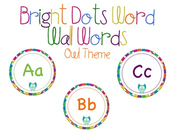 Multi Color Owl Word Wall Headers