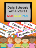 Multi-Color Pack Daily Schedule with Visual Pictures