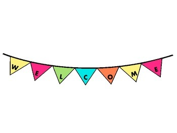 Multi-Color Pennant Welcome Banners