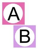 Multi-Color Polka Dot Letter Cards