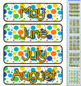 Multi-Color Polka Dot Themed Pocket Chart Subject Schedule Cards & Calendar