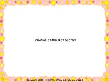 Multi-Color Sun/Star Border Frames