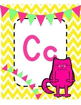 Multi-Colored Cheveron Alphabet