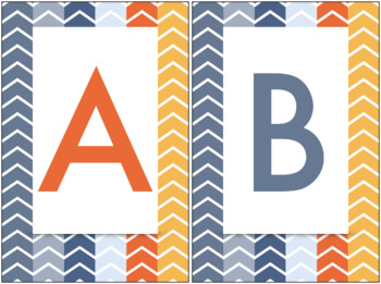Multi-Colored Chevron Alphabet Freebie