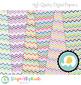 Multi-Colored Chevron Digital Papers