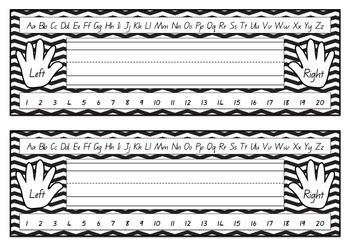 Multi Colored Chevron Name Desk Templates