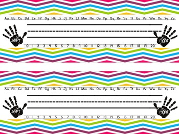 Multi Colored Chevron Nameplates