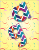 "Multi-Colored Chevron Party Alphabet  /  96 pcs - 4"" High, Vector PDF and PNGs"