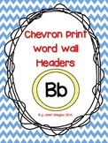 Multi-Colored Chevron Print Word Wall Headers