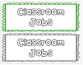 Multi-Colored Classroom Jobs