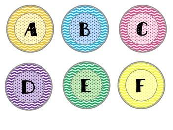 Multi-Colored Letters