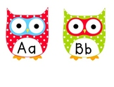 Multi Colored Polka Dot Owl Word Wall Letters