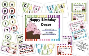 Multi-Colored Striped Birthday Tags