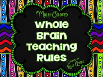 Whole Brain Teaching:  Classroom Rules (Multicolored)