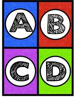 Multi-Colored Word Wall Headers