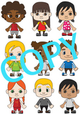 Multi-Cultural Children Clip Art (Children around the world)