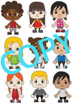 Multi-Cultural Children Clip Art (Children around the world)