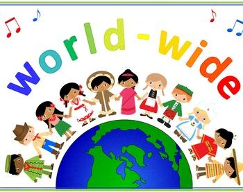 Multi-Cultural Music Kids - Decor Bundle - Poster, Borders