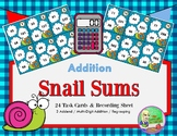 Snail Sums - Multi-Digit Addition  {2 & 3 digit addends}