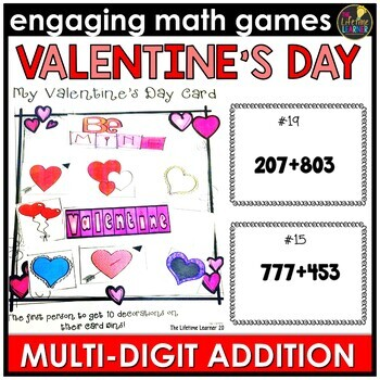Valentine's Day Multi-Digit Addition Game