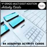 Multi-Digit Addition: 4th Grade Activity Cards
