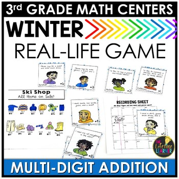 Multi-Digit Addition January Math Center