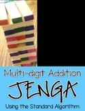 Multi-Digit Addition Jenga Math Game: Standard Algorithm (with regrouping)