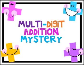 Multi-Digit Addition Mystery Digital Task Cards #ringin2020