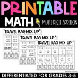 Multi-Digit Addition Practice - Printable No Prep