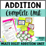 Multi-Digit Addition Unit Grades 2-4 | Addition Lessons and Activities