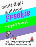 Multi-Digit Addition Who Am I? Inventor Worksheet Freebie