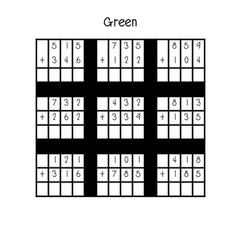 Multi-Digit Addition  With Regrouping Tower Blocks
