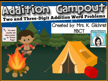 Multi-Digit Addition Word Problems SMART Notebook Lesson