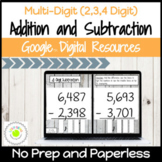 Multi-Digit Addition and Subtraction Digital Activities