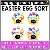 Easter Math Game - Multi-Digit Addition and Subtraction