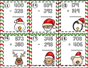 3-Digit Addition and Subtraction- Ho, Ho, Ho