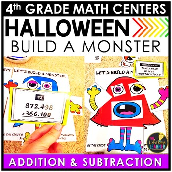 Multi-Digit Addition and Subtraction October Math Center