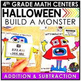 Multi-Digit Addition and Subtraction Halloween Game