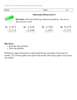 Multi-Digit Addition and Subtraction Practice