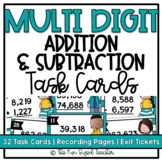 Multi Digit Addition and Subtraction Task Card Center