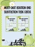 Multi-Digit Addition and Subtraction Task Cards BUNDLE