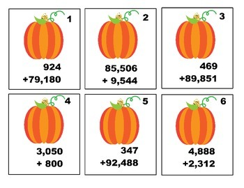 Multi Digit Addition and Subtraction Thanksgiving Theme Differentiated