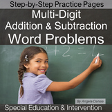 Multi-Digit Addition and Subtraction Word Problems | Special Education Math