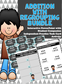 Multi-Digit Addition with Regrouping PowerPoint Bundle